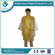 Venta caliente poncho transparente desechable lluvia niño