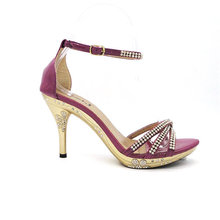 studded exotic high heel shoes