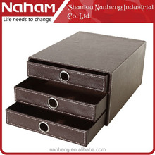 NAHAM Desk Accessory 3 Drawer Organiser A4 - Black