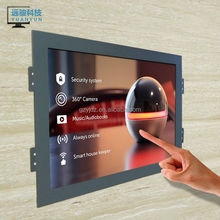 23 inch capacitive touch screen LCD monitor 1920*1080 DVI open metal frame /kiosk/wall