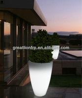 Outdoor Round Large lighted decoration plastic planter, flower pot