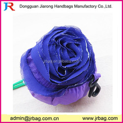 Fancy purple rose folding shopping bag,wholesale grocery shopping bags