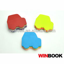 Cute Car Shaped Sticky Note with 12 Colors