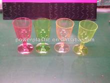 Haute qualité jetable en plastique transparent verre / verre à vin / dur en plastique verre