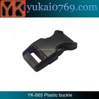 Yukai custom plastic bag belt buckle/side release buckle pom/strap buckle for bag