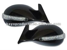 K6 Style Led Rear-view Car Door Mirror Black Chrome Carbon Fiber