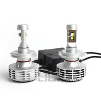 CANBUS LED headlight bulb for motorcycles H4 with 4 pieces LED chips 2 side lighting more than 3000 lumens