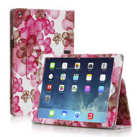 Flower Design Stand Leather Cover For iPad 5 iPad Air