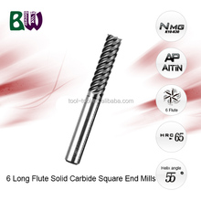 6 Long Flute Nano Micro Grain Solid Carbide Square End Mill