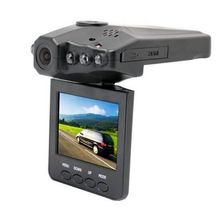 Cheap 6 LED H-198 car video camera at night with IR function