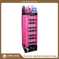 Latest arrival Purse/Wallet cardboard floor tiles display rack/ display stand