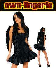 Cosplay Mujeres Sexy Disfraces Ángel Negro