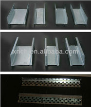 Building Materials Gypsum channel / profiles CW, UW for Drywall Partition