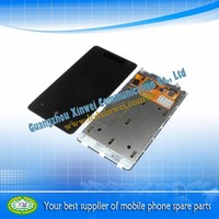 smartphone lcd digitizer with touch screen with frame for nokia lumia 800