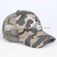 Camo half mesh trucker hat