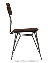 One Year Quality Assurance Vintage Steel and wood Cafe Chair KF-ST110