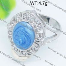 Wholesale fashion china petrified wood engagement ring