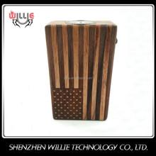 Willie wholesale flag wooden box mod e cigarette
