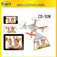 ufo quadcopter rc model ufo , cell phone controlled remote camera drone CX-30W