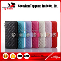 Leather Material cell phone case for samsung galaxy not5