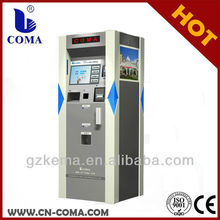 outdoor parking payment kiosk system with bill and card