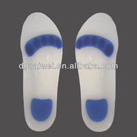 Silicone foot cushion high quality health care inserts for summer gel arch support insole