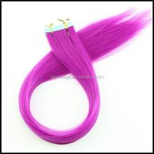 100% kanekalon synthetic heat resistant fiber hair straight tape hair extension, wholesale hair extension tape