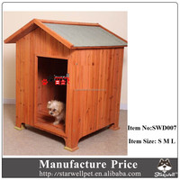 Factory cheap price outdoor wooden dog kennel buildings