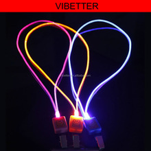 special flash light double layer fashion polyester led lanyard