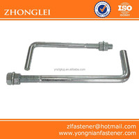 Grade 8.8 HDG L Hook Bolt wiht Nut and Washer