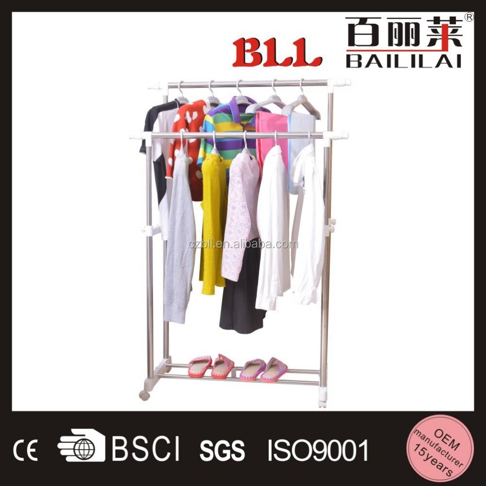 Baililai l307b telescopic portable t shirt floor display stand for Portable t shirt display