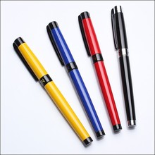 plating and painting color metal roller ball pen with gel ink