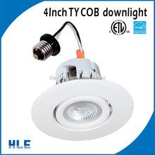 Edison E26 base 10w 4 inch 120V adjustable led retrofit lights with ETL/CEC/ES approved