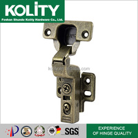 Bronze Inseparable Cabinet Fairy Hinge for Furniture Door Copper Plated