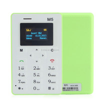 Low radiation multi-language M5 mini card phone for student children with FM Bluetooth