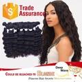 rosa de venta al por mayor de productos del pelo humano extensiones de cabello virgen brasileño cabello tejido