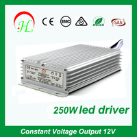 CE RoHS approved Constant Voltage led adapter Output ac/dc 12v 250w