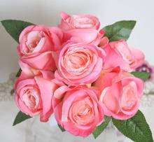 artificial bouquet high quality rose flower for wedding home decotation