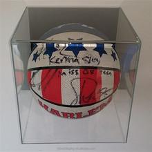 Custom high quality acrylic box for soccer ball, basketball display box case