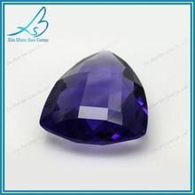 Factory price fancy cutting purple decorative glass gem stones