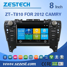auto steering wheel for Toyota CAMRY 2012 touch screen car stereo car cd vcd dvd car gps ZT-T810