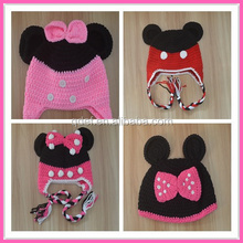 crochet mouse hat full handmade beanie cotton baby caps and hats