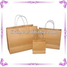 diseñador de la marca 2014 marrón de papel kraft bolsas de venta al por mayor