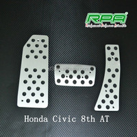 Aluminum accelerator pedal car brake pedal fit for Honda Civic 8th AT