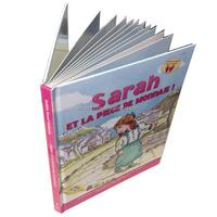 children hardcover cardboard reading book printing