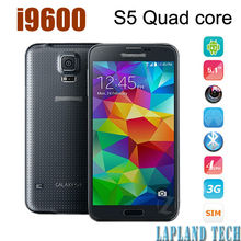 5.1 inch 960*640px MTK6582 quad core Android 4.3 OS wifi bluetooth gps wcdma 3g dual camera mobile phone S5 i9600