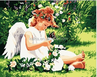 DIY ANGEL OIL PAINTING BY NUMBERS KITS