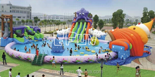 conch shell inflatable water pool with shell slide park/hot games inflatable water amusement