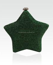 High quality star shaped handbag lady wristlet clutch bag drop ship