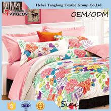 China supplier textile design, home use comfortable sheeting, duvet cover, 100% cotton bedding set